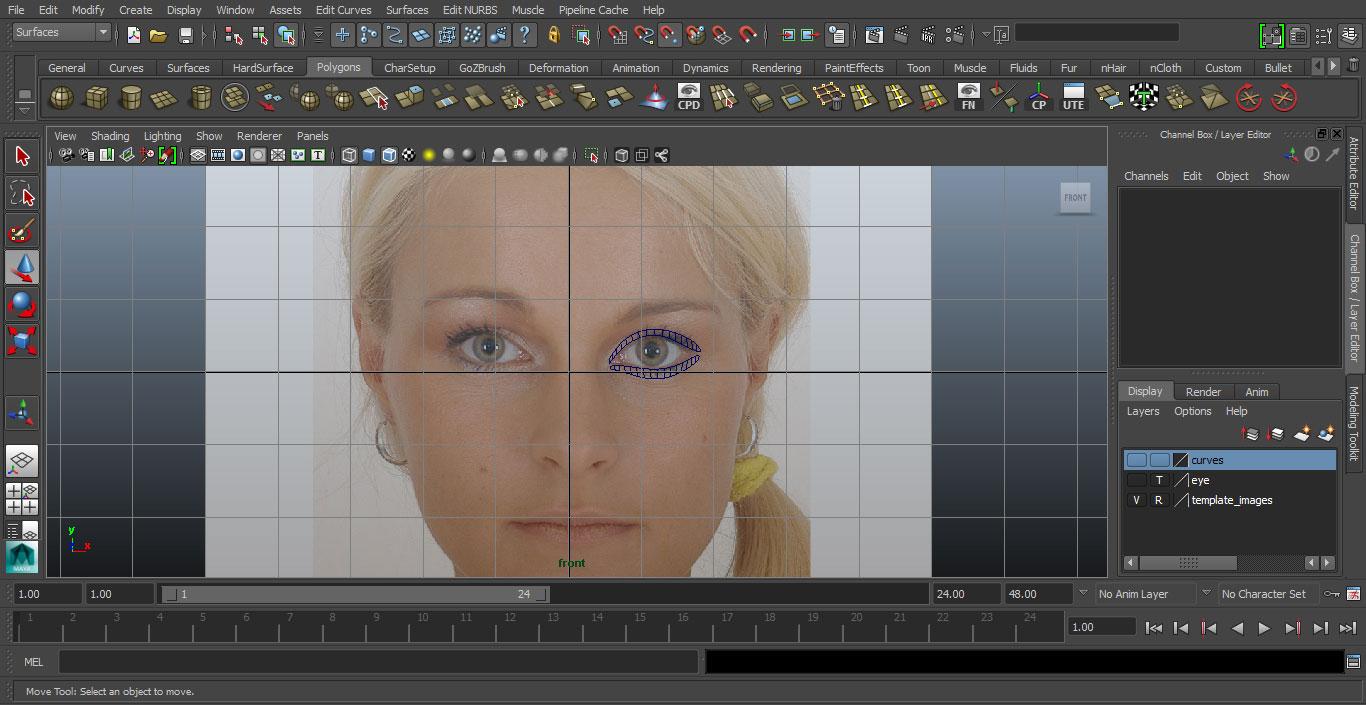 Jorge Sanchez making an eye tutorial image 1