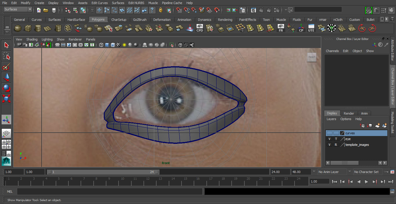 Jorge Sanchez making an eye tutorial image 8