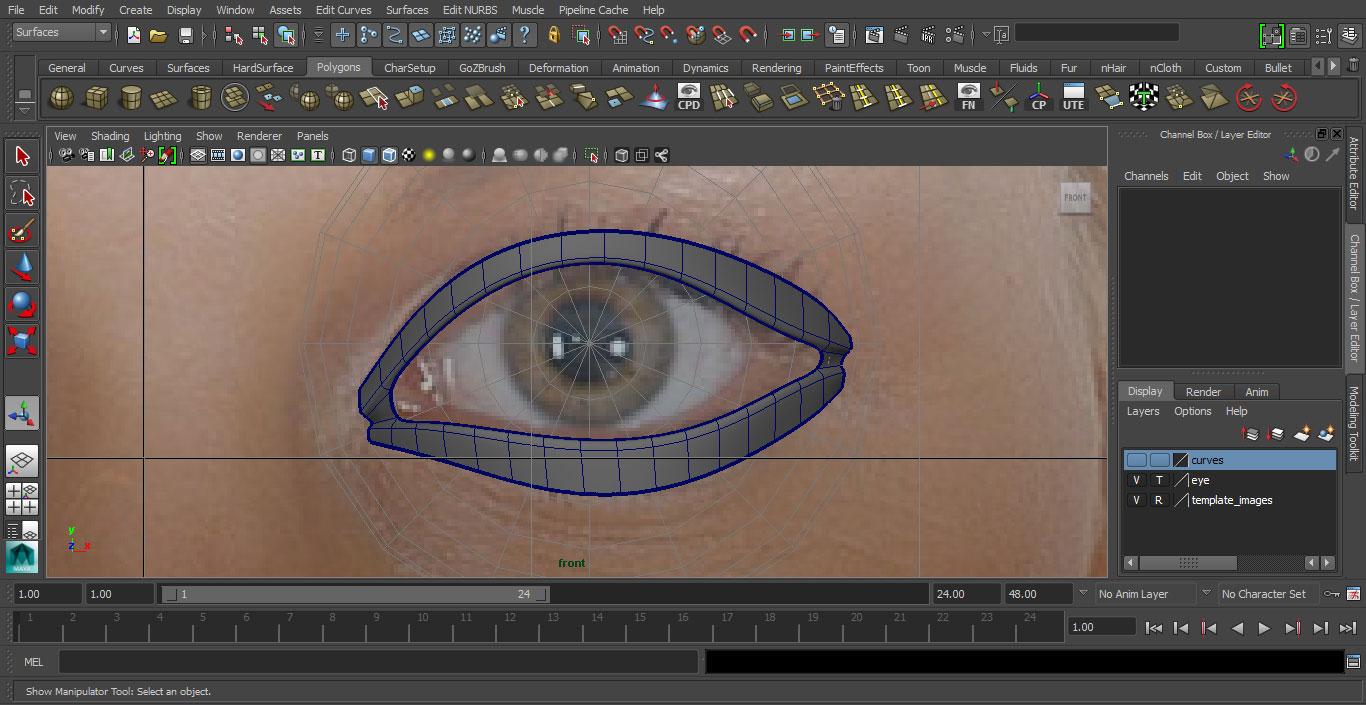 Jorge Sanchez making an eye tutorial image 8
