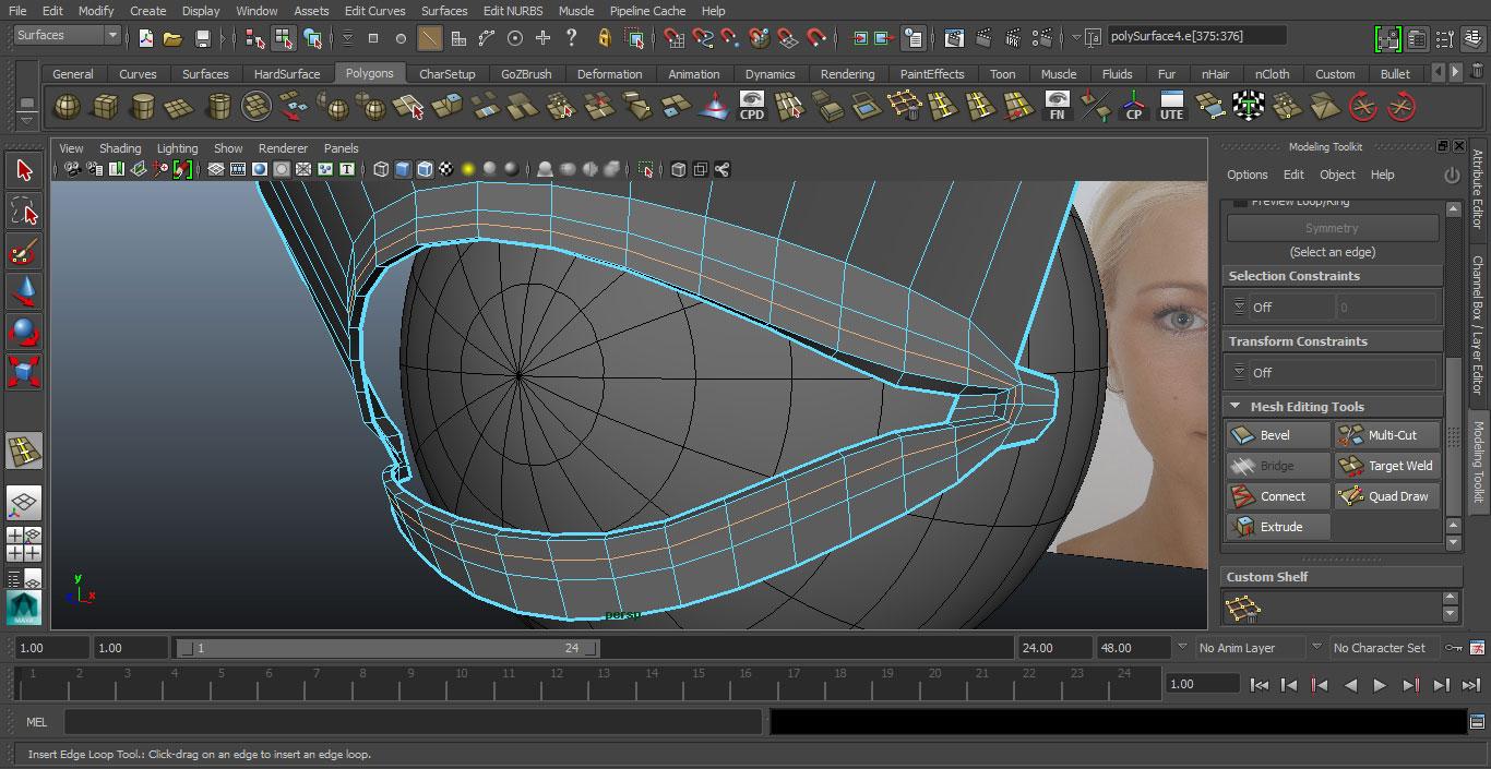 Jorge Sanchez making an eye tutorial image 19
