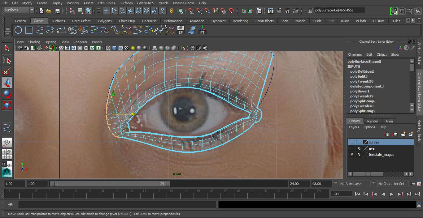 Jorge Sanchez making an eye tutorial image 23
