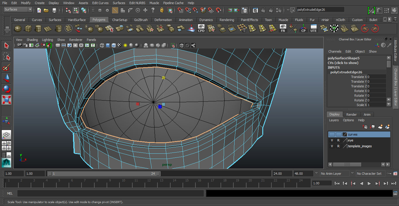 Jorge Sanchez making an eye tutorial image 30