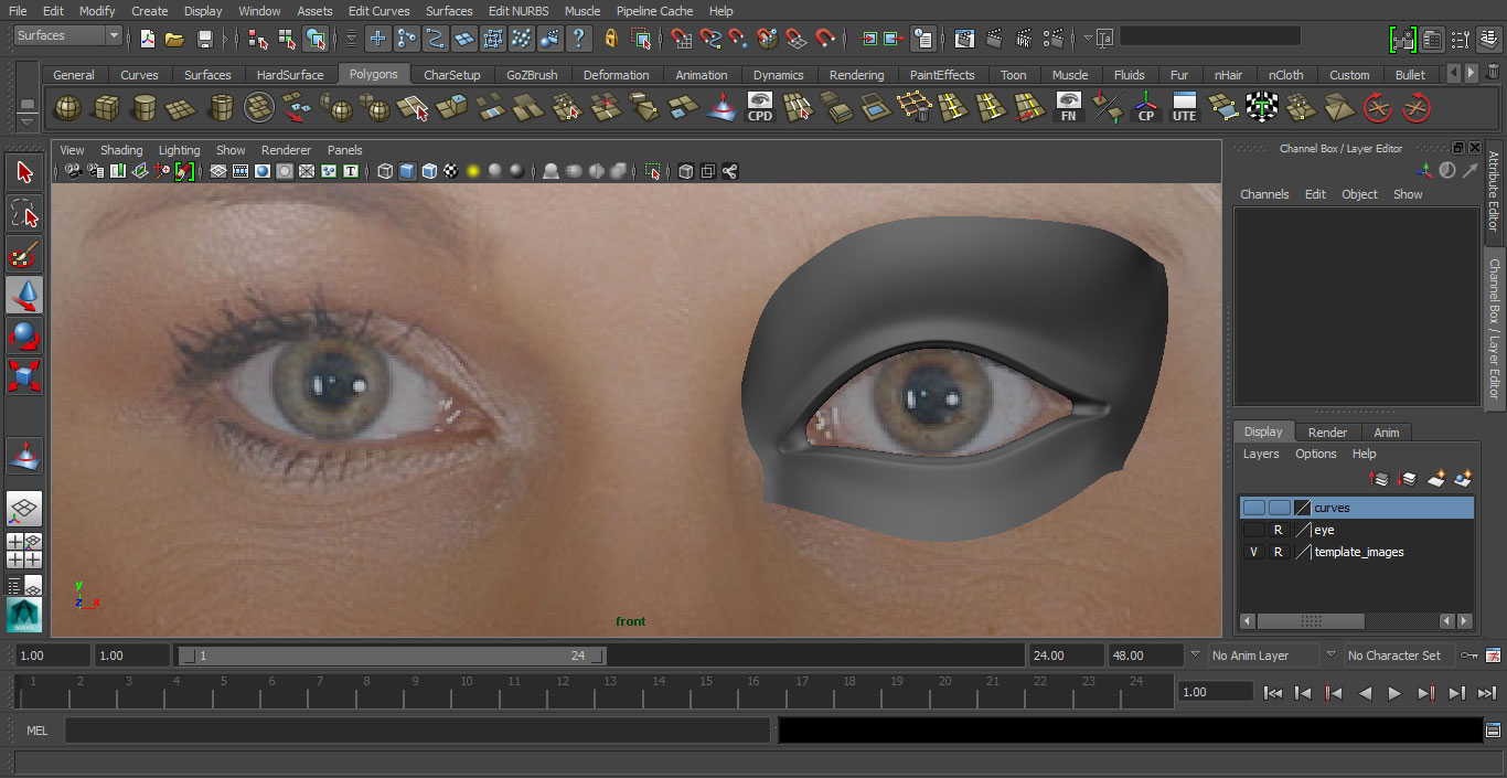 Jorge Sanchez making an eye tutorial image 34