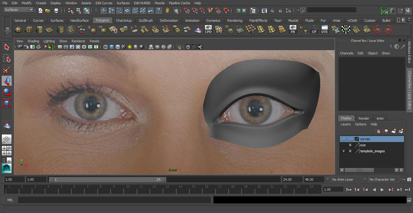 Jorge Sanchez making an eye tutorial image 34
