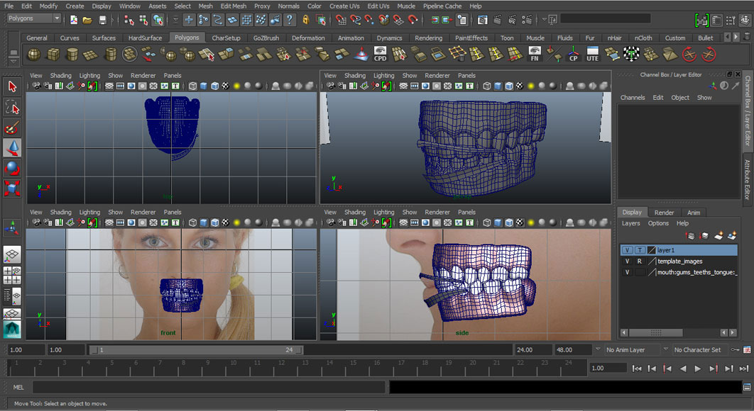 Jorge Sanchez modelling the lips and mouth tutorial image Part 1 Step 1