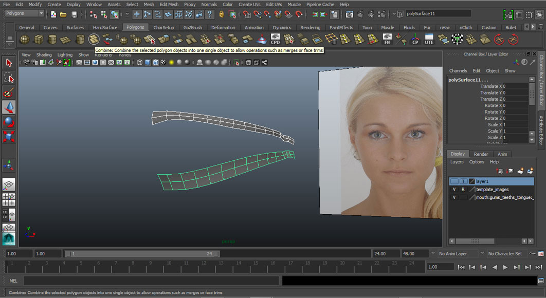 Jorge Sanchez modelling the lips and mouth tutorial image Part 1 Step 2