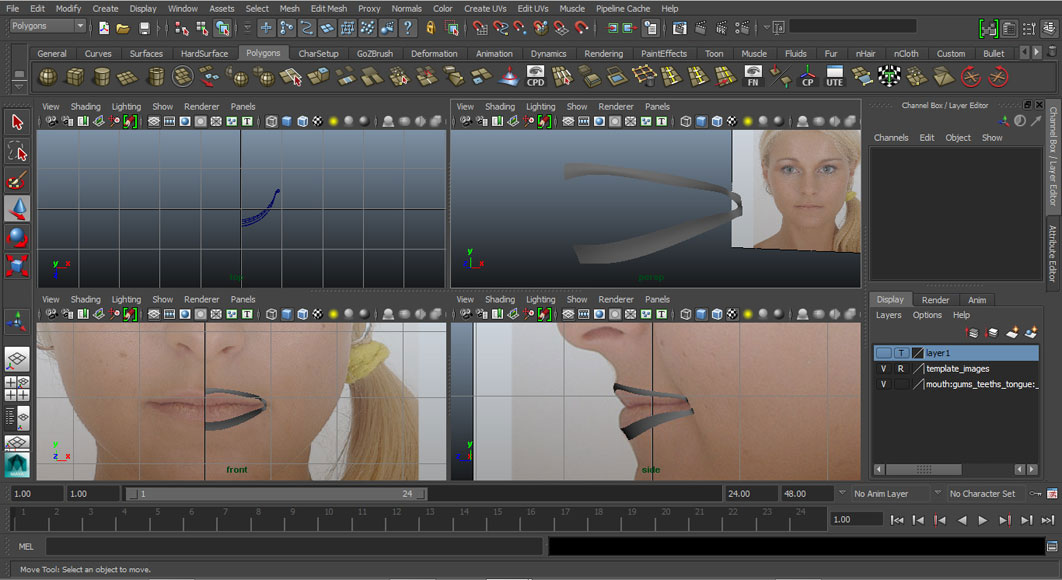Jorge Sanchez modelling the lips and mouth tutorial image Part 1 Finished