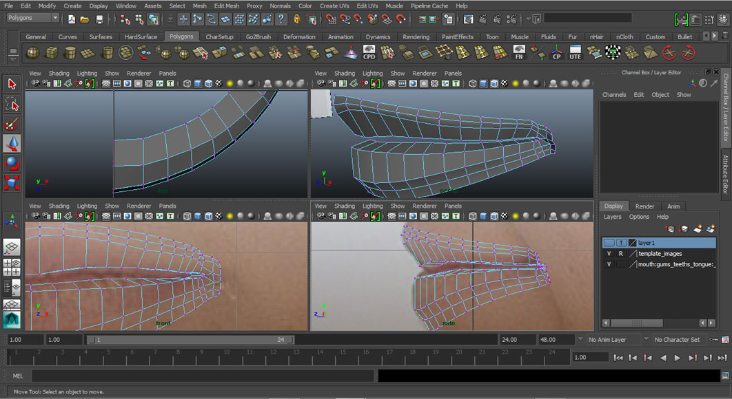 Jorge Sanchez modelling the lips and mouth tutorial image Part 2 Finished 4 Views