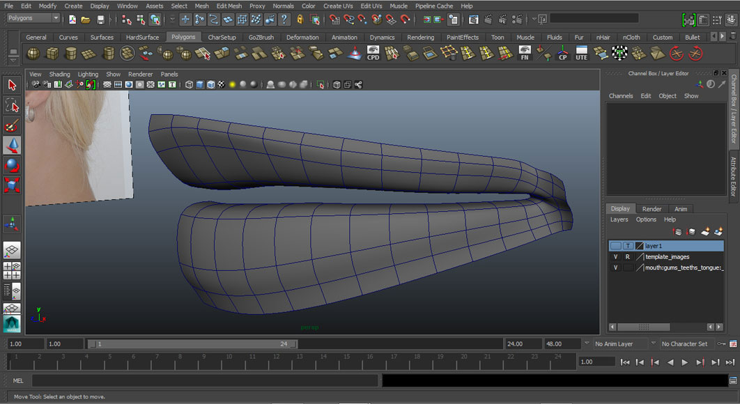 Jorge Sanchez modelling the lips and mouth tutorial image Part 2 Finished