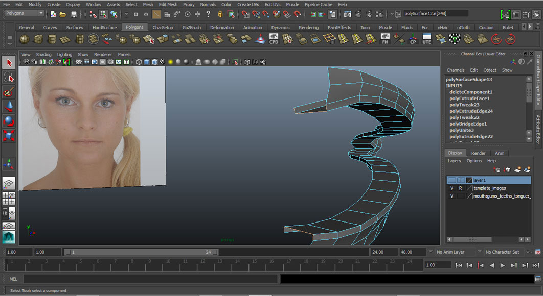 Jorge Sanchez modelling the lips and mouth tutorial image Part 2 Step 3