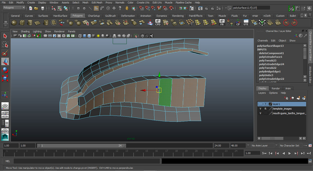 Jorge Sanchez modelling the lips and mouth tutorial image Part 2 Step 6