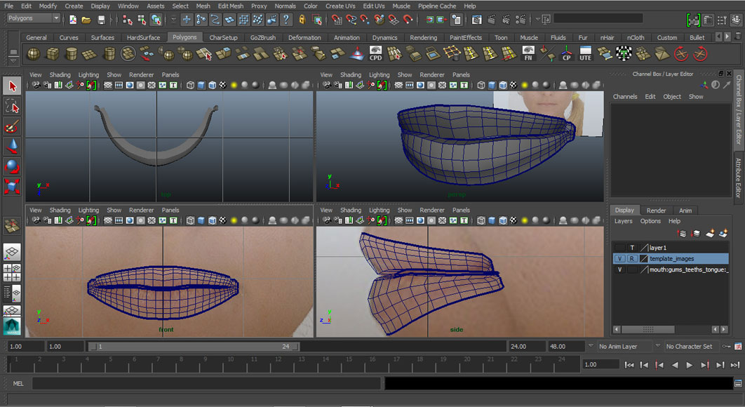 Jorge Sanchez modelling the lips and mouth tutorial image Part 3 Step 3 4 Views