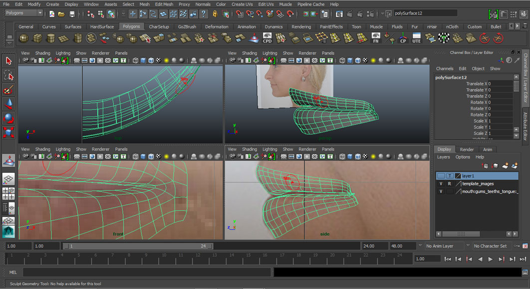 Tutorial: Modelling the lips and mouth in 3D by Jorge