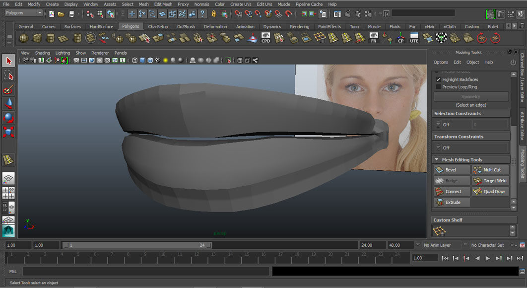 Jorge Sanchez modelling the lips and mouth tutorial image Part 4 Finished