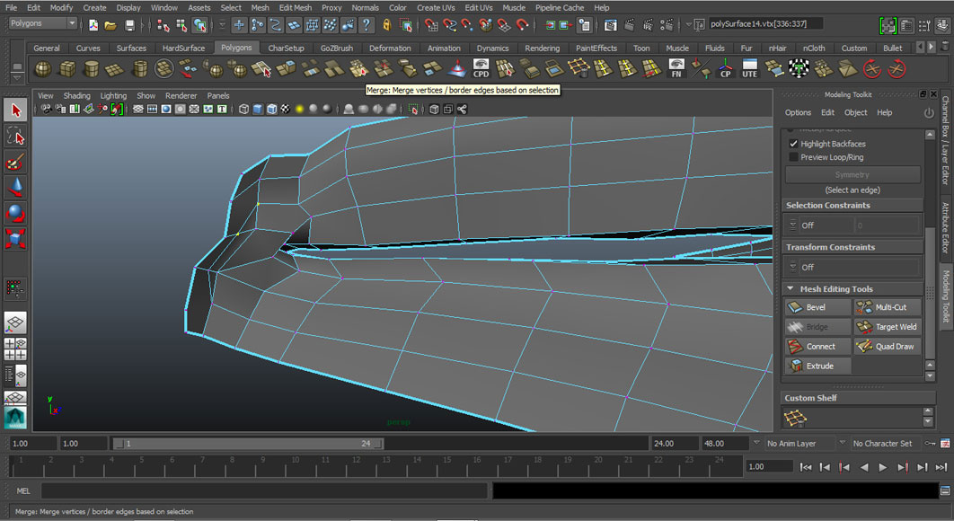 Jorge Sanchez modelling the lips and mouth tutorial image Part 4 Step 3