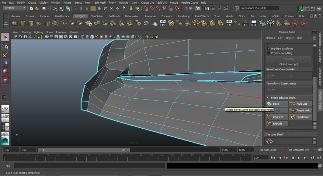 Jorge Sanchez modelling the lips and mouth tutorial image Part 4 Step 4