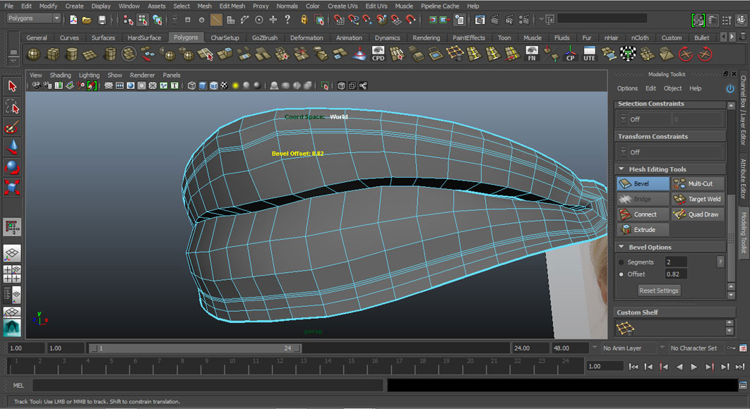 Jorge Sanchez modelling the lips and mouth tutorial image Part 4 Step 6
