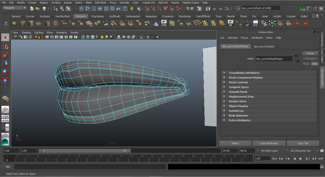 Jorge Sanchez modelling the lips and mouth tutorial image Part 4 Step 8
