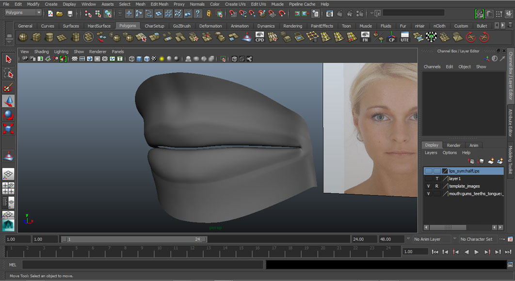 Jorge Sanchez modelling the lips and mouth tutorial image Part 5 Finished