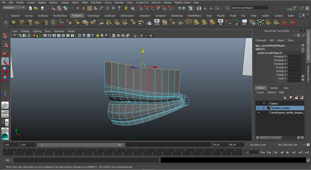 Jorge Sanchez modelling the lips and mouth tutorial image Part 5 Step 1